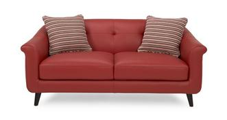 Louvre Leather and Pattern Midi Sofa