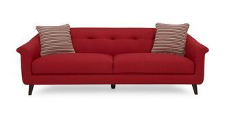 Louvre Plain and Pattern Large Sofa