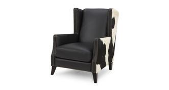 Lowry leder en huiden Accent fauteuil