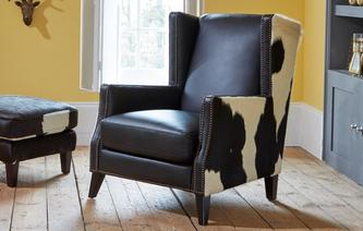 Lowry leder en huiden Accent fauteuil Lowry Leather and Hide