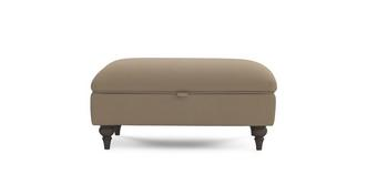 Ludlow Velvet Storage Banquette Footstool