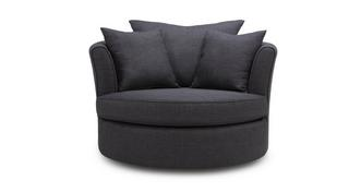Ludo Large Swivel Chair with Plain Scatters