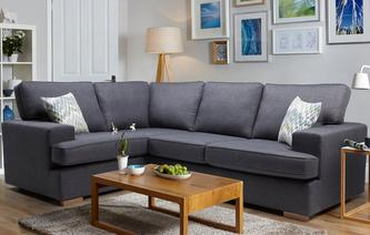 Ludo Right Hand Facing 2 Seater Corner Sofa Revive