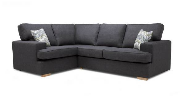 Ludo Right Hand Facing 2 Seater Corner Sofa Bed