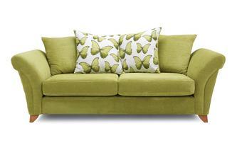3 Seater Pillow Back Sofa Lullaby Express
