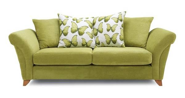 Lullaby Express 3 Seater Pillow Back Sofa