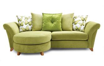 4 Seater Pillow Back Lounger Sofa Lullaby Express