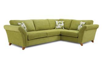 Left Hand Facing 3 Seater Formal Back Corner Sofa Lullaby Express