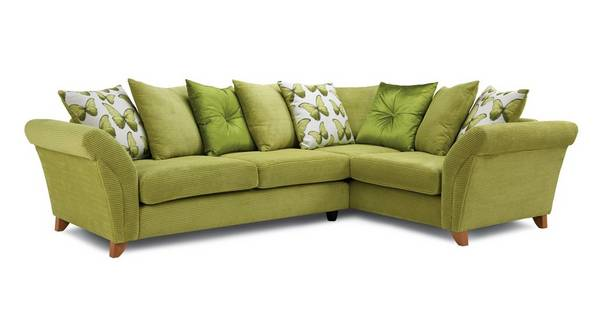 Lullaby Express Left Hand Facing 3 Seater Pillow Back Corner Sofa