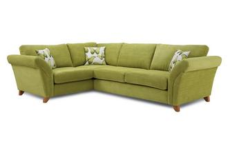 Right Hand Facing 3 Seater Formal Back Corner Sofa Lullaby Express