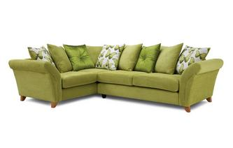 Right Hand Facing 3 Seater Pillow Back Corner Sofa Lullaby Express