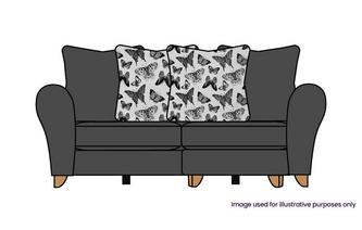 Pillow Back 3 Seater Lounger