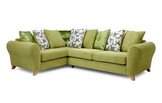 Pillow Back Right Hand Facing 3 Seater Corner Sofa