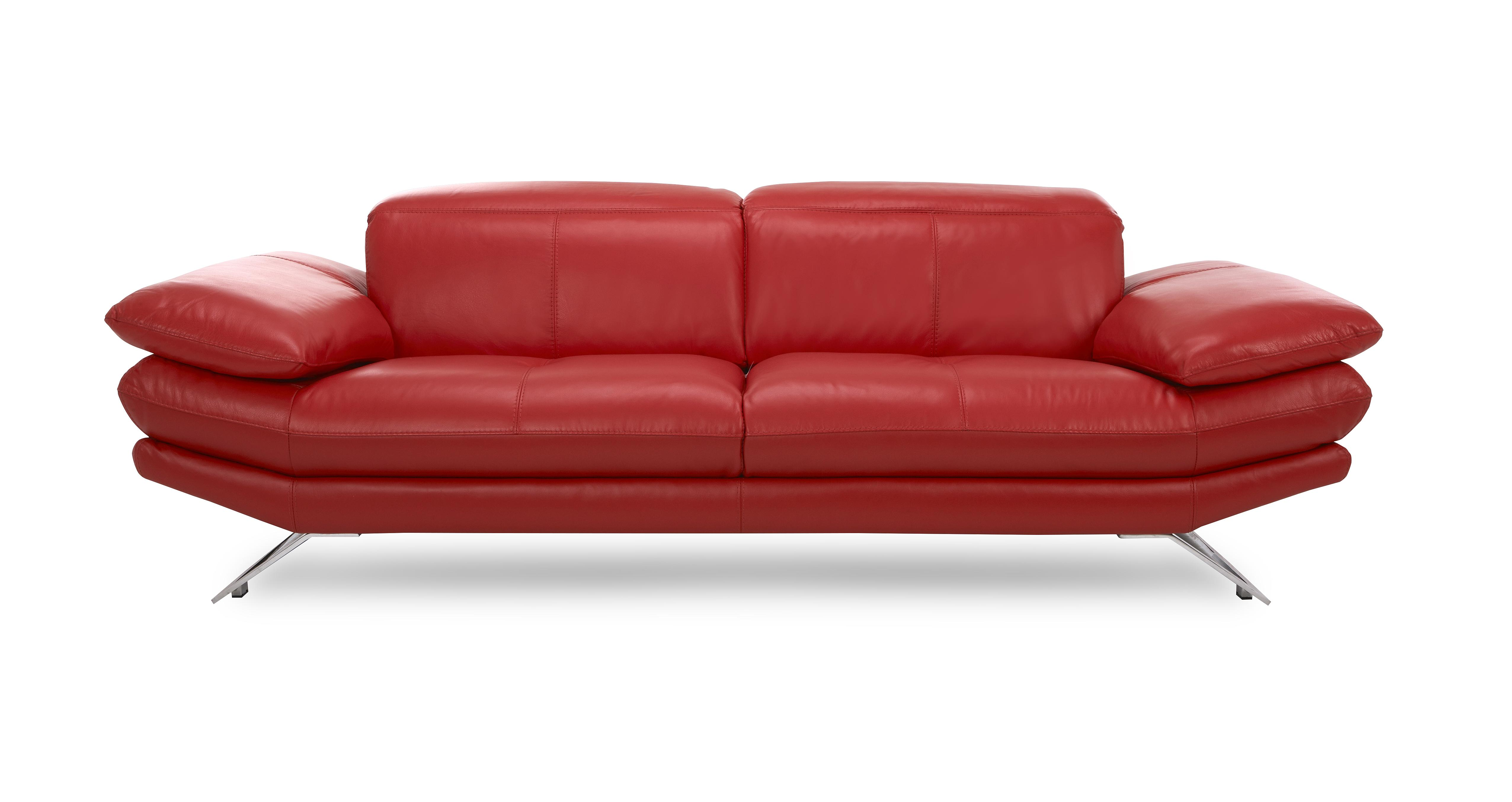 Dfs red sofa Dfs 4 seater leather sofa