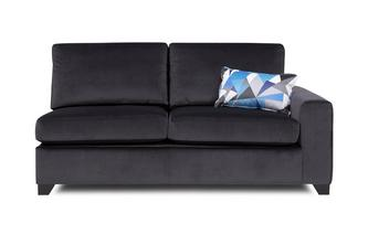 Right  Hand Facing 1 Arm 3 Seater Deluxe Sofa Bed Lustre