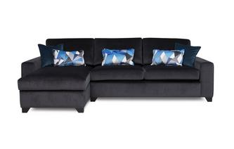 Left Hand Facing Chaise End 3 Seater Deluxe Sofa Bed Lustre