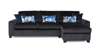 Lustre Right  Hand Facing Chaise End 3 Seater Deluxe Sofa Bed