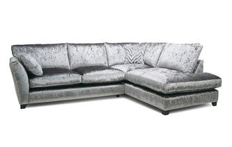 Formal Back Left Hand Facing Arm 3 Seat Corner Sofa