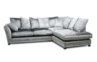 Pillow Back Left Hand Facing Arm 3 Seat Corner Sofa