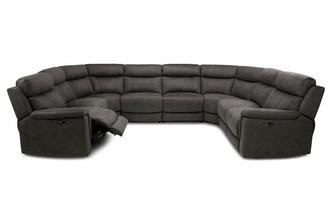 Option P Power Plus 8 Piece U Shape Sofa