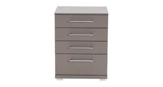 Luxor 4 Drawer Bedside Table