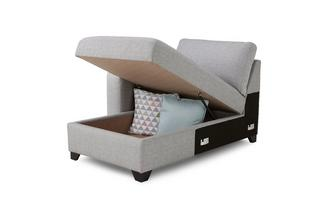 Left Hand Facing 1 Arm Storage Chaise Unit Lydia