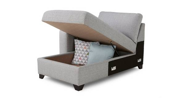 Lydia Left Hand Facing 1 Arm Storage Chaise Unit