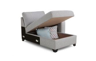 Right Hand Facing 1 Arm Storage Chaise Unit