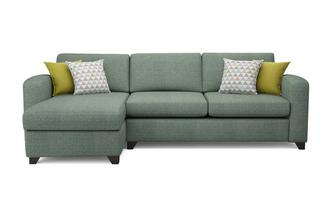 Corner sofa beds in both leather fabric greens dfs for Chaise end sofa bed