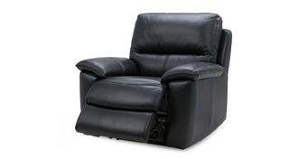 Lynx Leather and Leather Look Manual Recliner Chair
