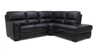 Lynx Leather and Leather Look Left Arm Facing 2 Piece Corner Sofa