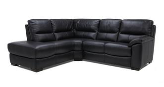 Lynx Leather and Leather Look Right Arm Facing 2 Piece Corner Sofa
