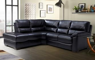 gxd lynx leather and leather look right arm facing 2 piece corner sofa essential
