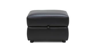 Lynx Leather and Leather Look Storage Footstool