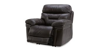 Lyon Leather and Leather Look Manual Recliner Chair