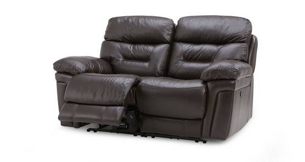 Lyon Leather and Leather Look 2 Seater Manual Recliner