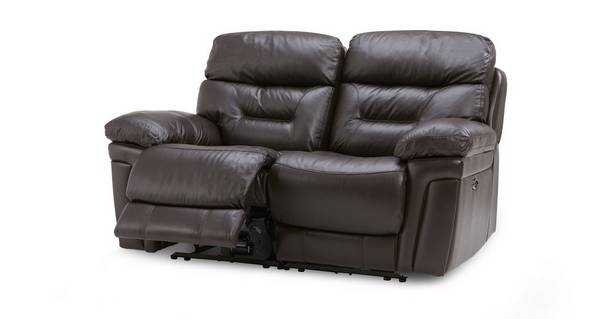 Lyon Leather and Leather Look 2 Seater Electric Recliner