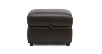 Lyon Leather and Leather Look Storage Footstool
