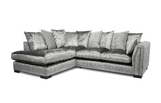 Pillow Back Right Hand Facing 2 Seater Corner Sofa