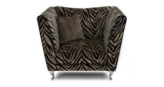 Madagascar Tiger Pattern Armchair