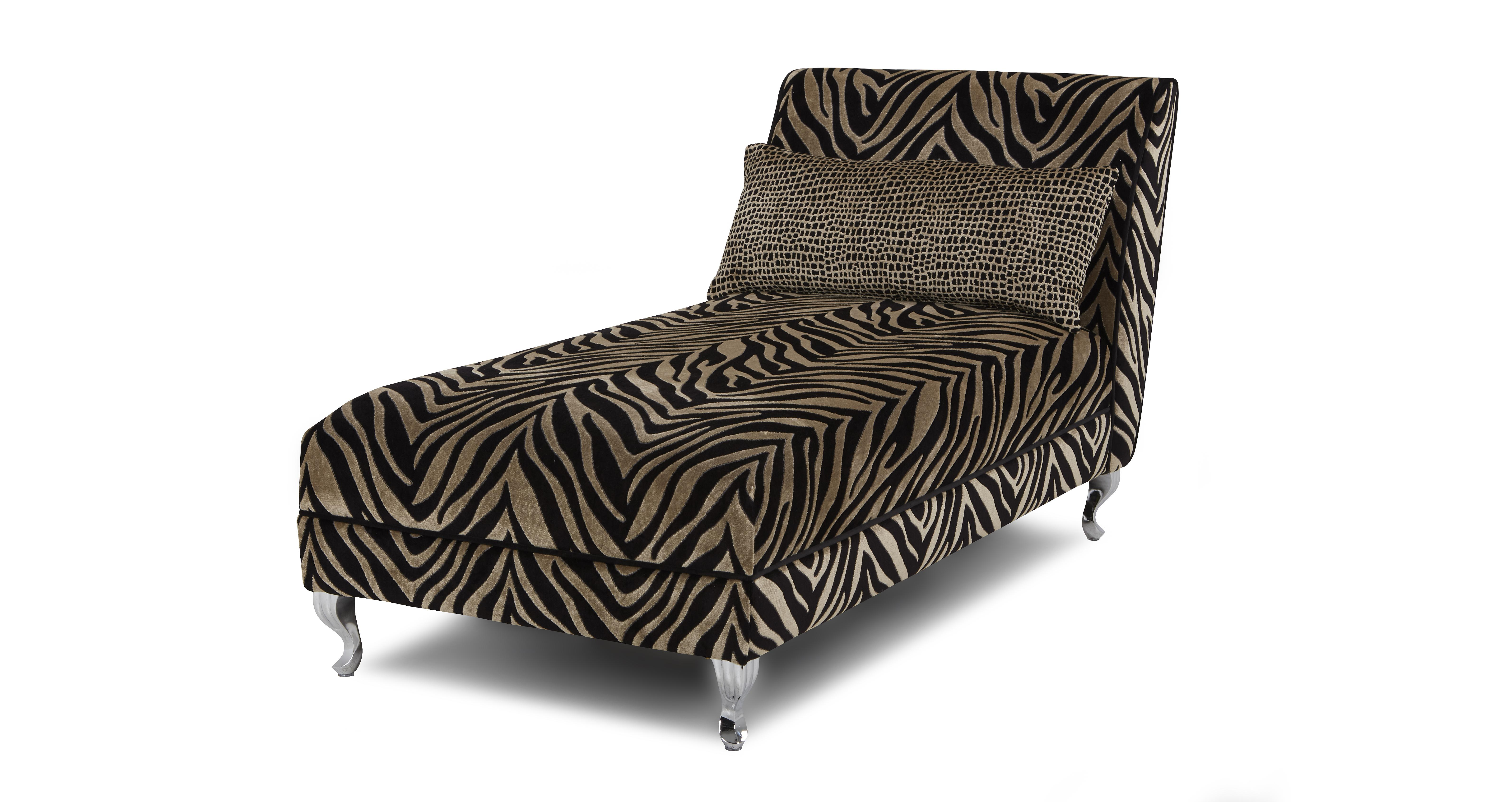 Madagascar tiger pattern chaise longue dfs for Chaise longue dfs