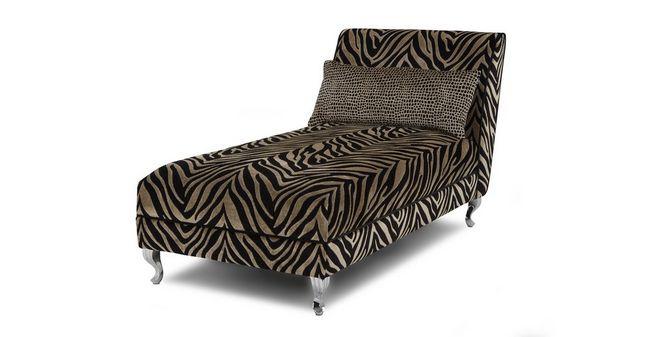 brand new e9d68 e69bd Madagascar: Tiger Pattern Chaise Longue