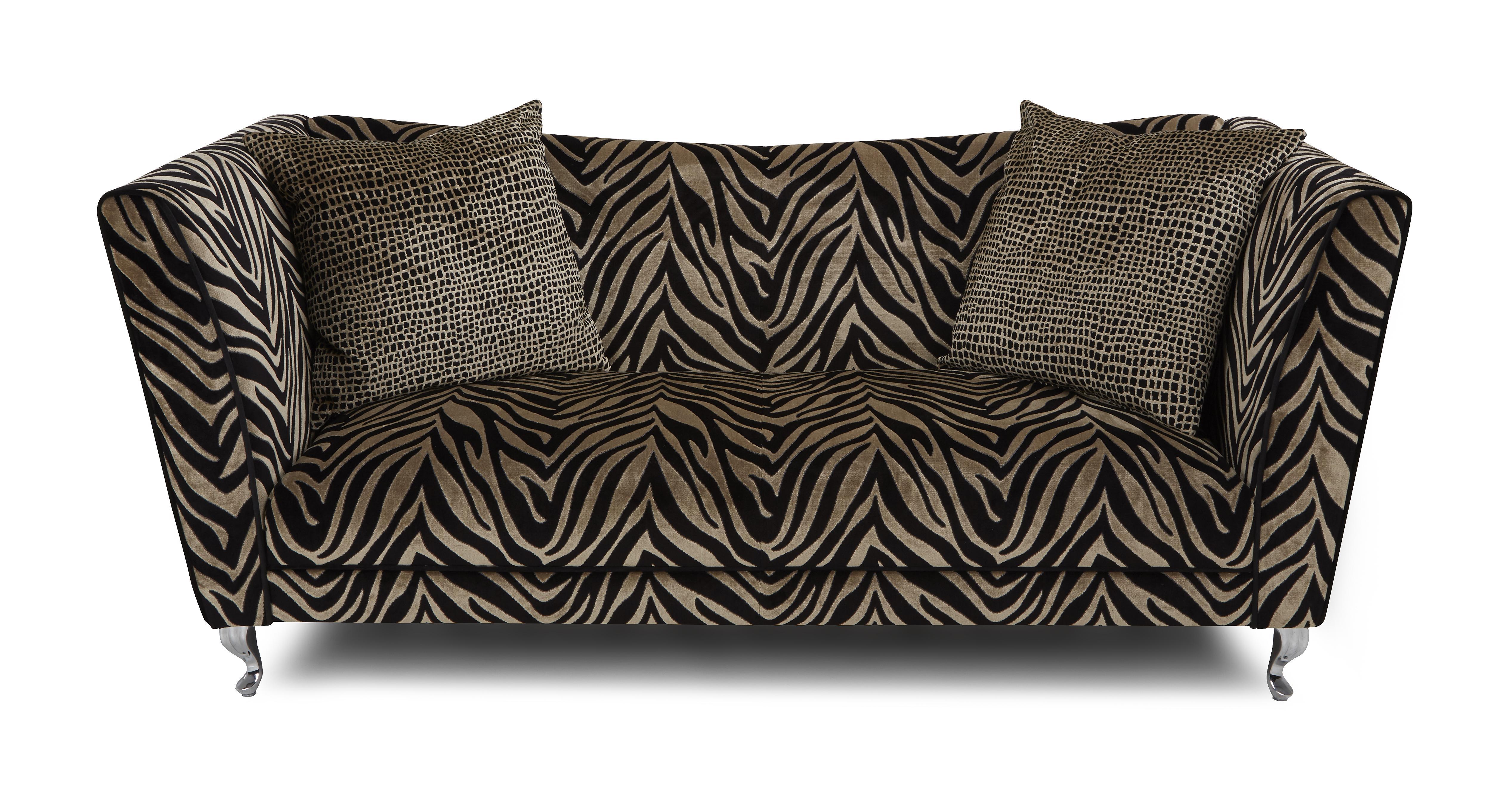 Madagascar tiger pattern 4 seater sofa dfs