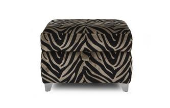 Tiger Pattern Storage Footstool