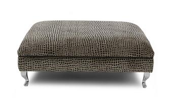 Square Pattern Large Footstool
