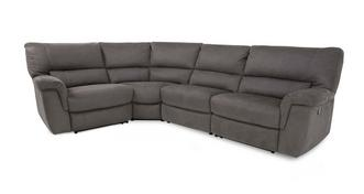 Maestro Option H Right Hand Facing 1 Corner 2 Manual Double Recliner
