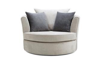Large Swivel Chair with 2 Plain Scatters Plaza