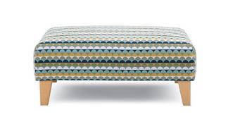 Mahiki Pattern Banquette Footstool