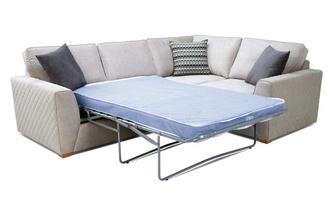 Left Hand Facing 2 Seater Deluxe Corner Sofa Bed Plaza