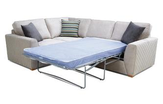 Right Hand Facing 2 Seater Deluxe Corner Sofa Bed Plaza